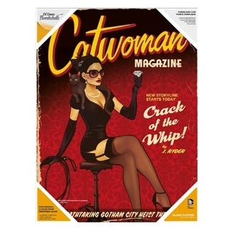 Image of DC Comics Justice League Bombshells: Catwoman Glass Poster