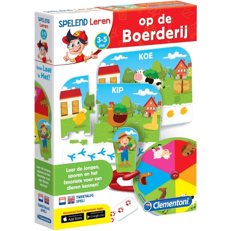 Image of Clementoni leerspel Boerderijdieren