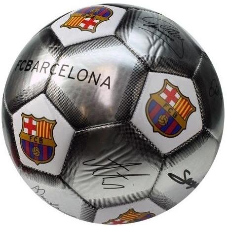 Image of Bal barcelona leer groot zilver handtekeningen SE