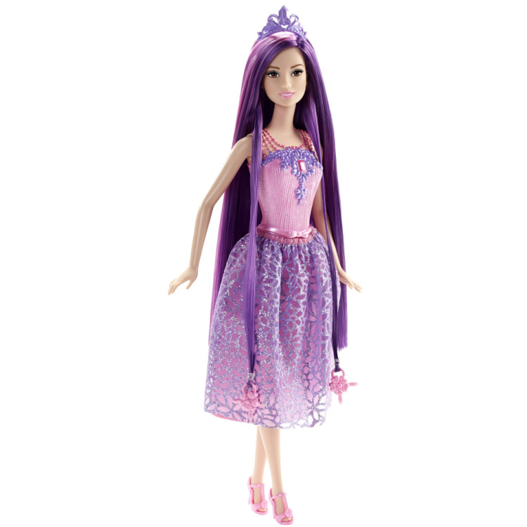 Image of Barbie Bijzonder Lang Haar - Prinses Paars Haar