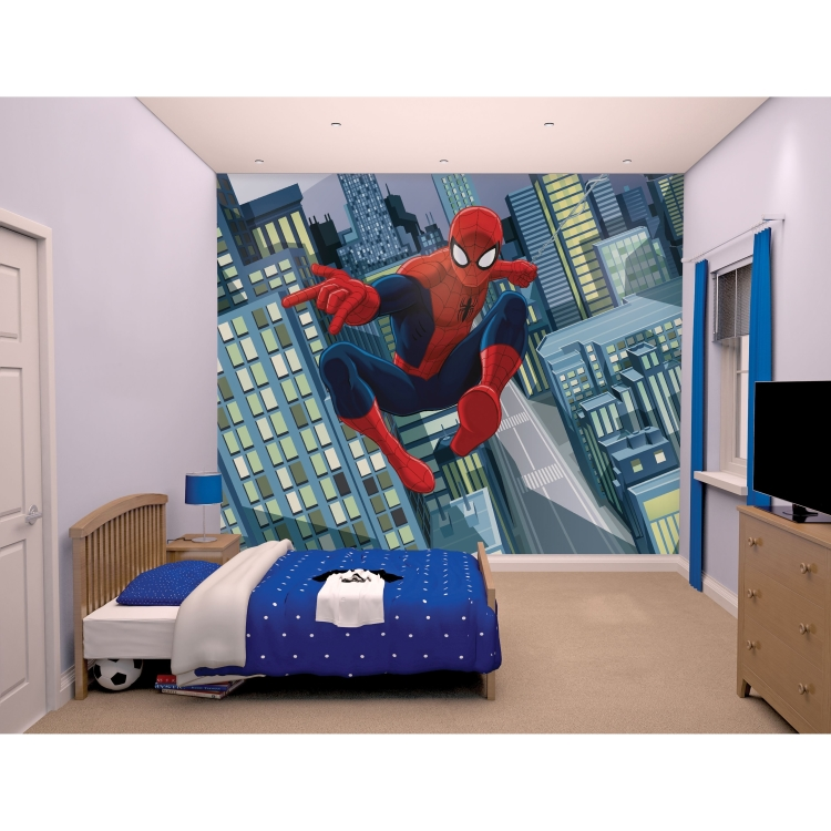 Behang Spiderman Walltastic: 245x305 Cm