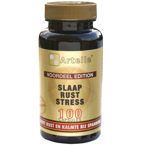 Image of Slaap Rust Stress, 100 Capsules