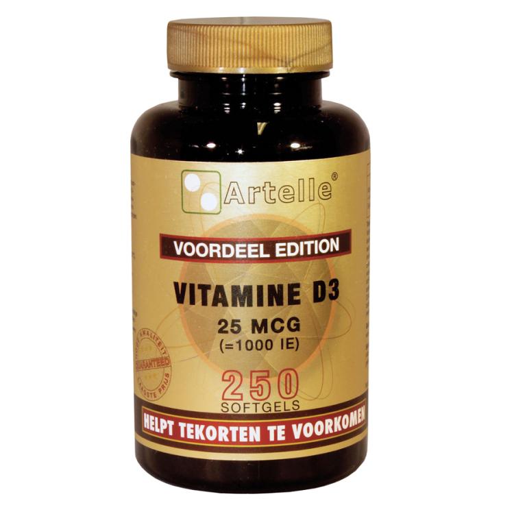 Image of Vitamine D3 25 Mcg, 250 Softgels