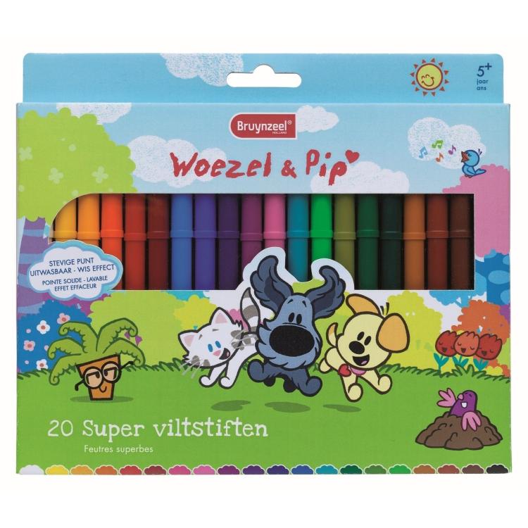Image of Woezel & Pip Super Viltstiften, 20 Stuks