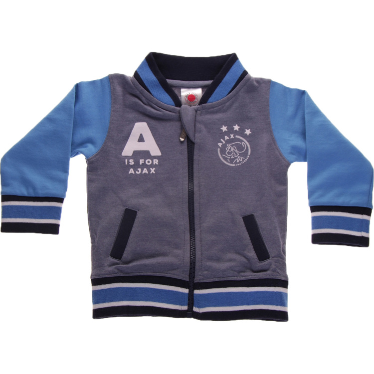 Image of Baby Baseball Jacket Blauw: A Is Fo