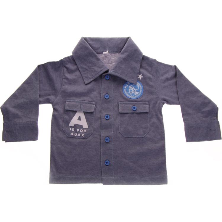 Image of Baby Jongens Overhemd Blauw: A Is For Ajax, Maat 62/68