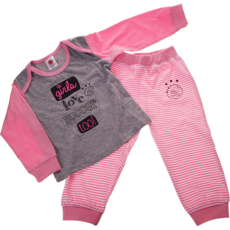 Image of Baby Meisjes Pyjama Roze: Girls Lov