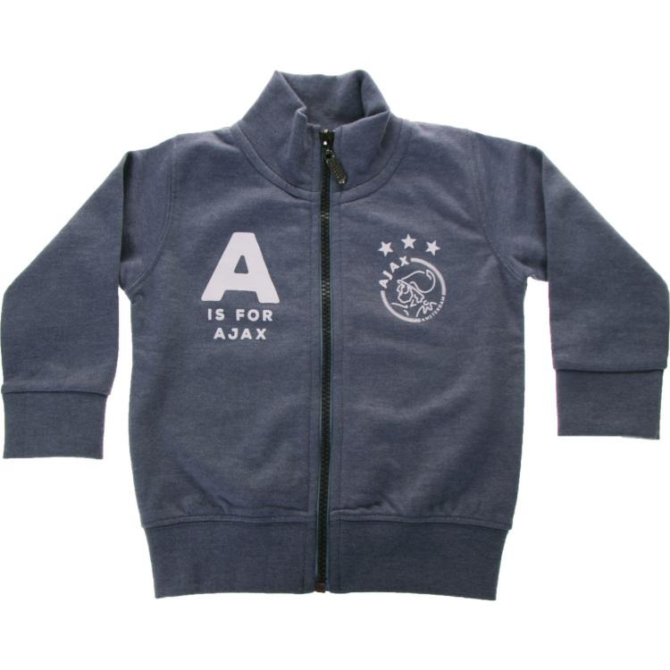 Image of Baby Jongens Sweatvest Blauw: A Is For Ajax, Maat 62/68