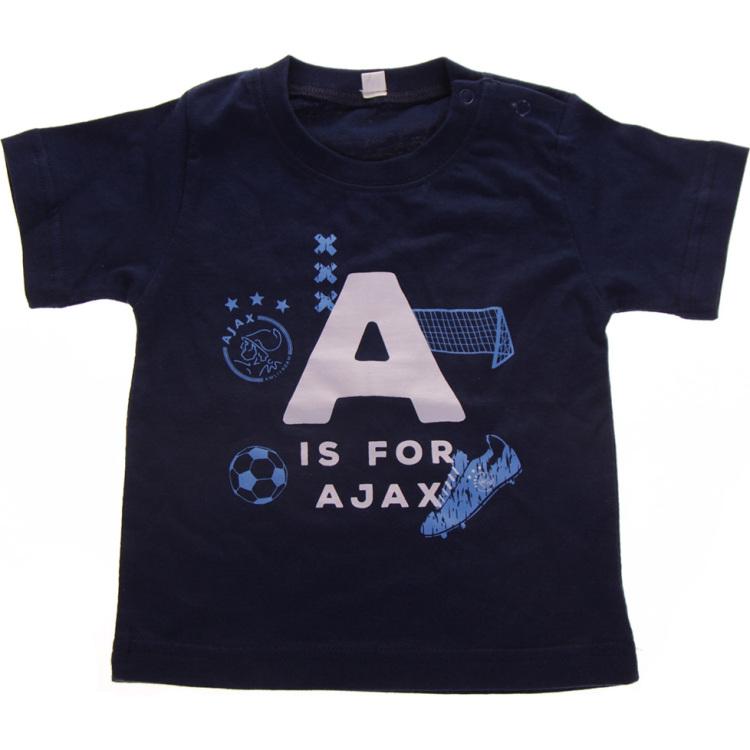 Image of Baby T-shirt Jongens Blauw: A Is For Ajax, Maat 50/56