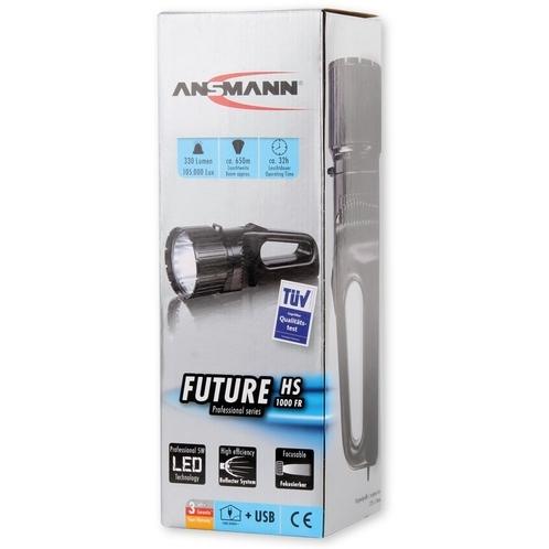 Ansmann LED-handschijnwerper Future SF1000M Zwart 1600-0055-510 Cree-LED 100 % > 6 h · 20 % > 32 h