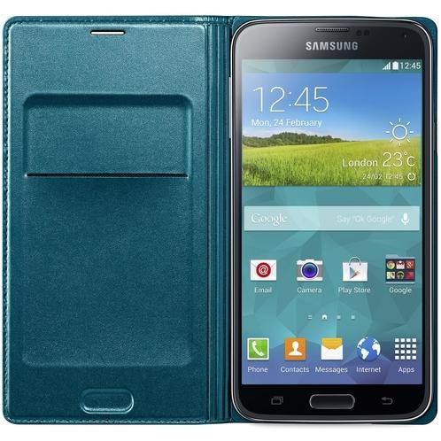 Galaxy S5 Flip Wallet Green