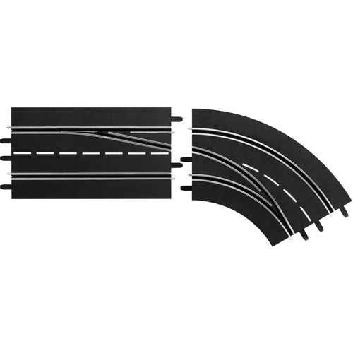 Carrera Digital 132 Lane change curve right, Out to In - racebanen - 1:32 - 1:24