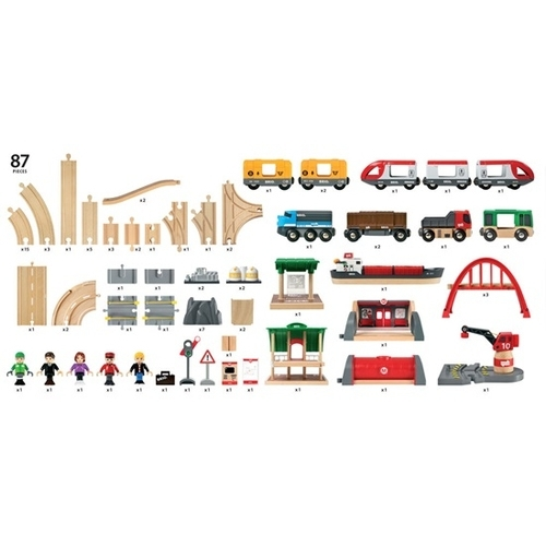 Image of Brio - Deluxe Railway Set (33052)