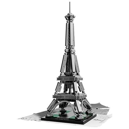 De lego architecture versie presenteert één van de beroemdste constructies aller tijden: de eiffeltoren! de ...