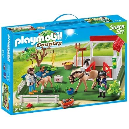 Playmobil 6147 Superset Paardenbox Met Dierenarts