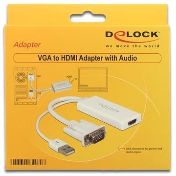 DeLOCK Adapter VGA + Audio naar HDMI (62460)