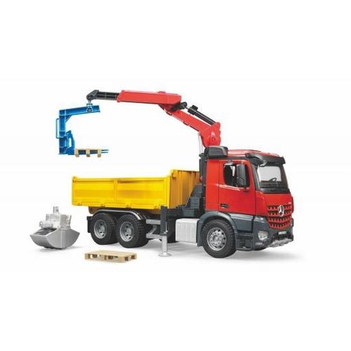 Image of Bruder 3651 Vrachtwagen MB Arocs Met Kraan