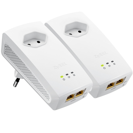 1000Mbps Powerline Gigabit Ethernet Pass-Thru Twin Pack Wallmount