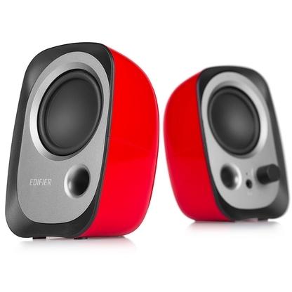 Edifier SPK 2.0 4W RMS 2x 2W Multimedia luidsprekers USB powered 3.5mm Aux Lui (R12U-RED)