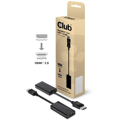 Image of Club 3D DisplayPort > HDMI 2.0 Adapter