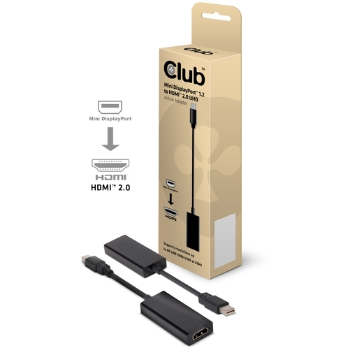 Image of Club 3D MiniDisplayPort > HDMI 2.0