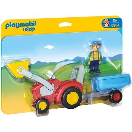 Image of 1.2.3 - Boer met tractor en aanhangwagen