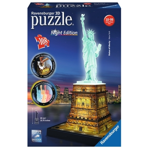 3D-puzzel: Statue of Liberty Night Edition