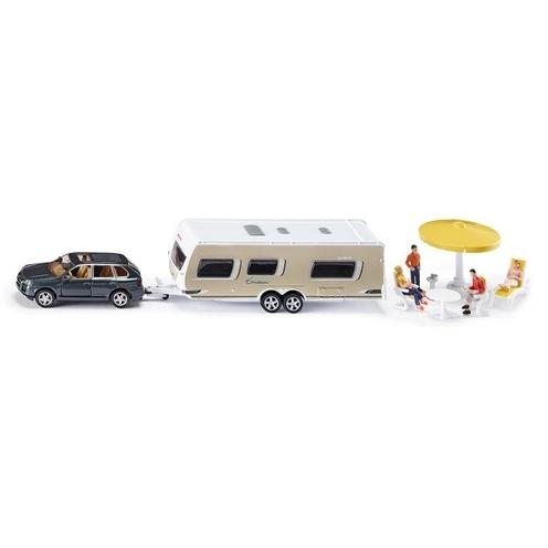 Siku Auto met Caravan