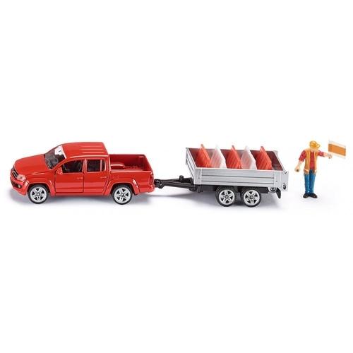 Siku Pick-up met Kantelaanhangwagen