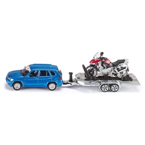 Auto Met Aanhanger En Motor