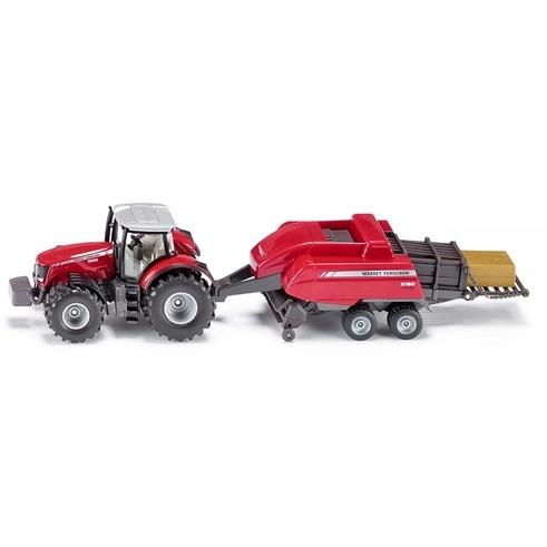 Siku Massey Ferguson MF8680 Traktor met Balenpers