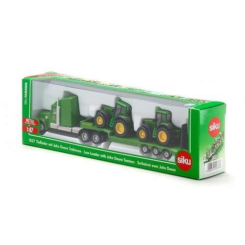 SIKU Farmer - Dieplader met John Deere tractoren 1837