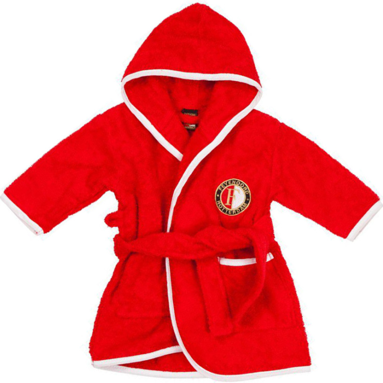 Image of Baby Badjasje Feyenoord Rood Maat 6