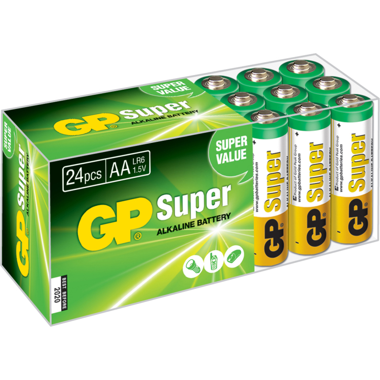 Image of 15A Super Alkaline 24x AA Multipack