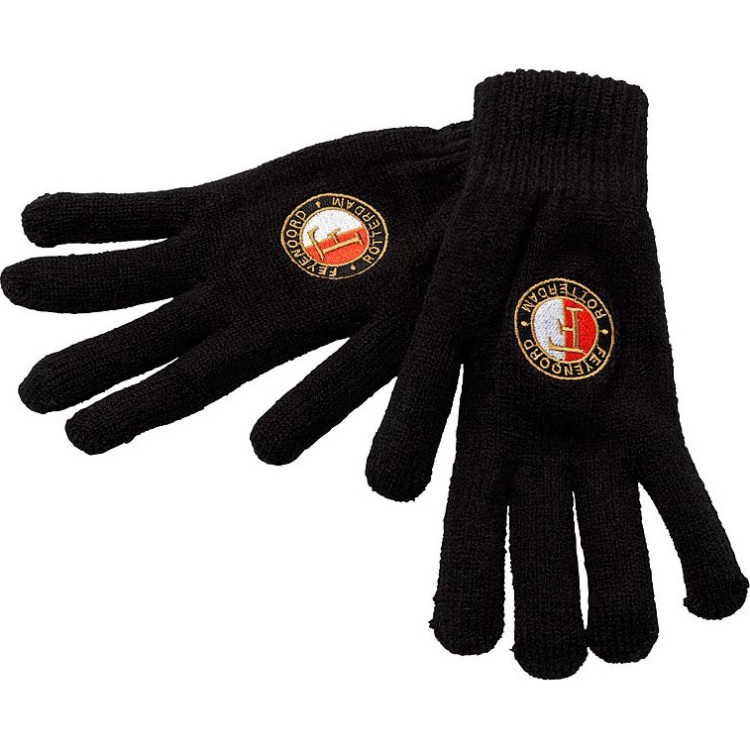 Image of Gebreide Handschoenen Heren Zwart,