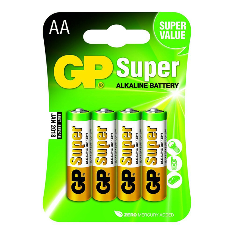 GP Batteries Super Alkaline AA