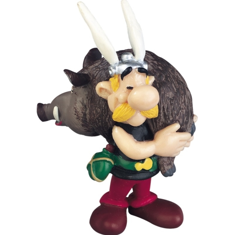 Image of Miniature Asterix Holding A Boar 7 Cm
