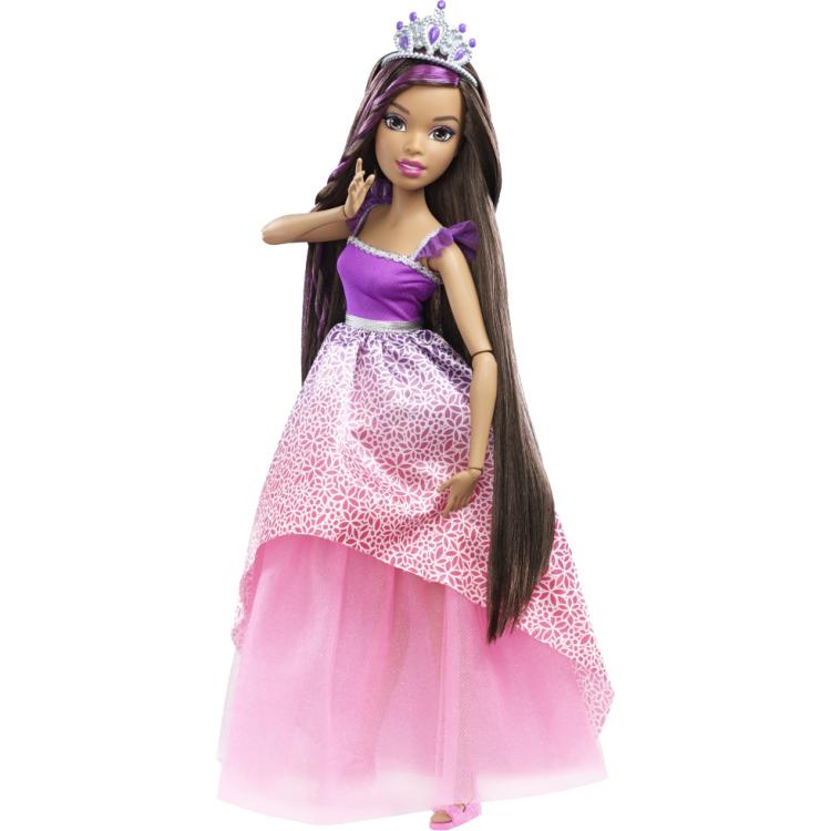 "Image of Barbie Bijzonder Lang Haar 17"" Prinses Brunette"