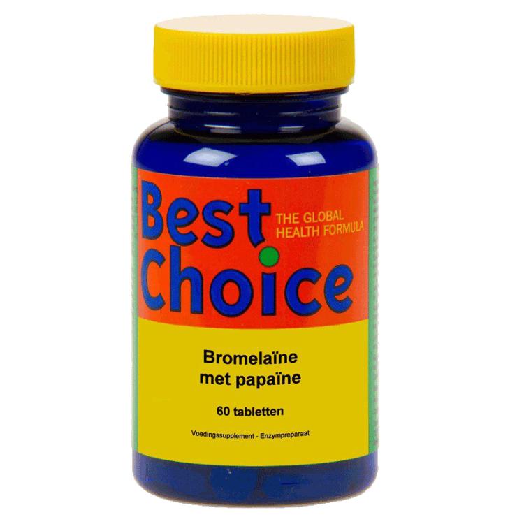 Image of Bromelaïne Met Papaïne, 60 Tabletten