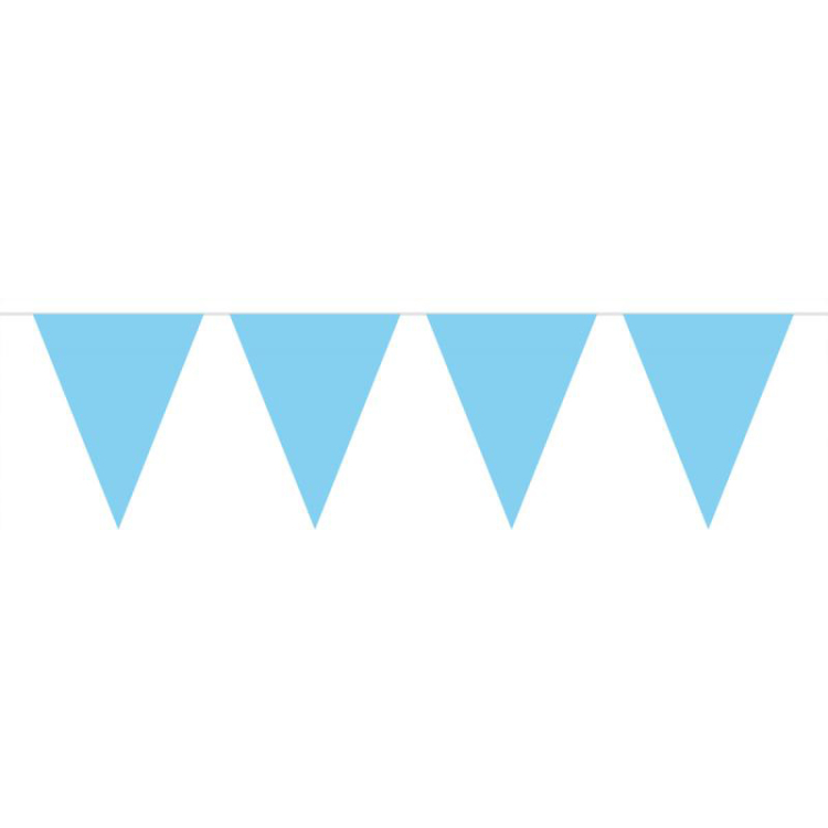 Image of Vlaggenlijn Lichtblauw, 10 M
