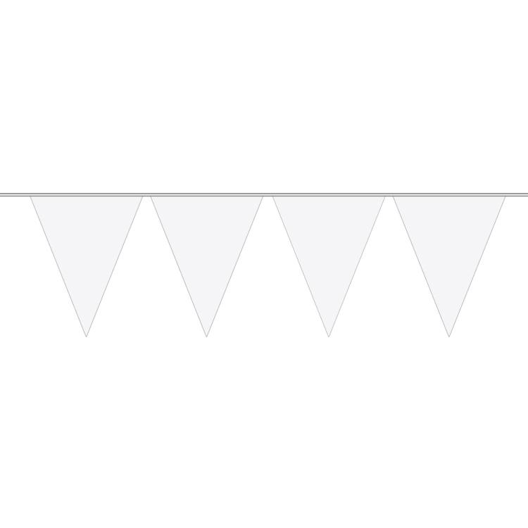 Image of Vlaggenlijn Wit, 10 M