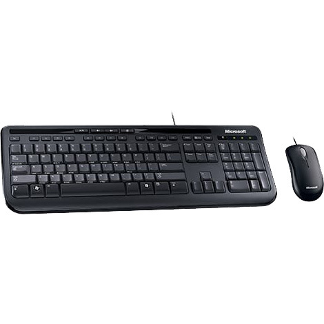 Image of MS Wired Desktop 600 Black For Business