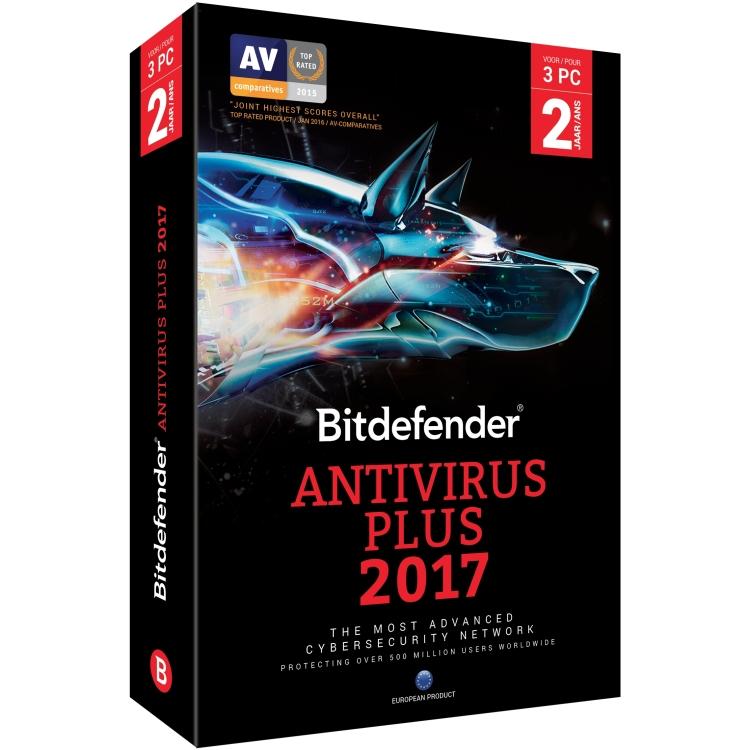Image of Bitdefender Antivirus Plus 2017 (2 Jaar / 3 Users)