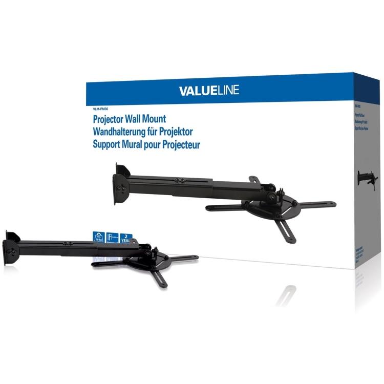 Valueline Muurbeugel voor projector 10 kg-22 lbs (VLM-PM30)