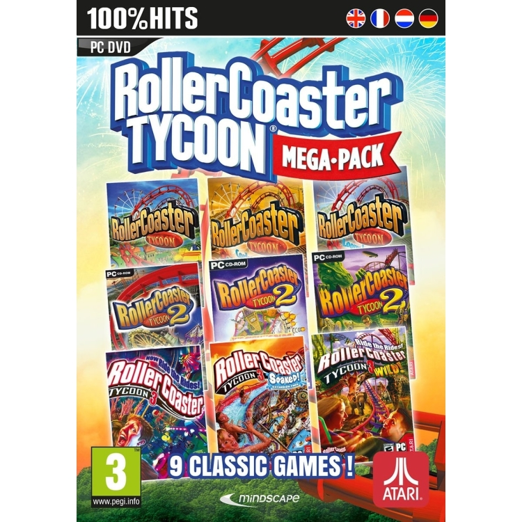 Mindscape Rollercoaster Tycoon 9 Megapack (DVD-Rom) (RMP3854AT)