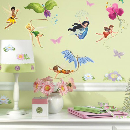 RoomMates - Muursticker Fairies - Glitter Roze