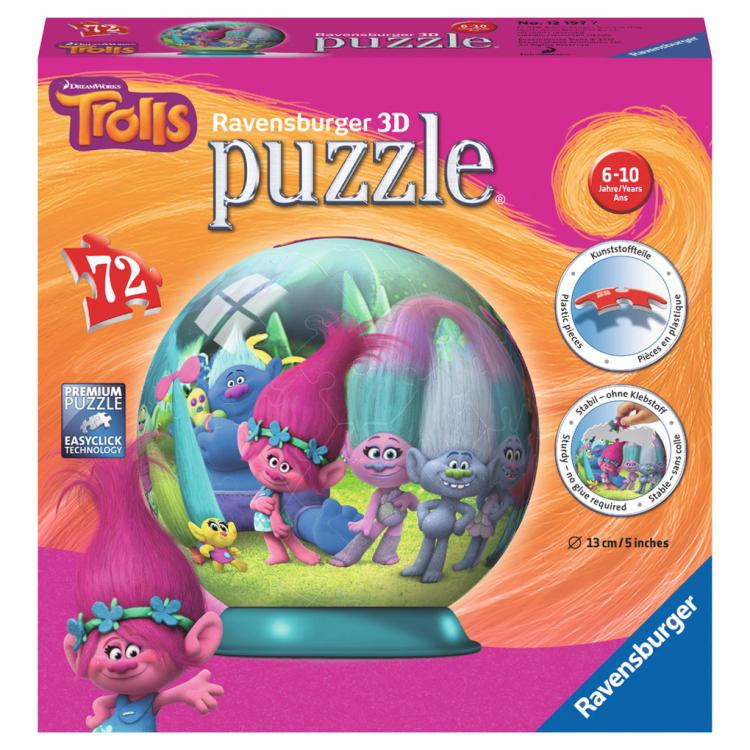 Ravensburger: Trolls 3D Puzzel 72 stukjes