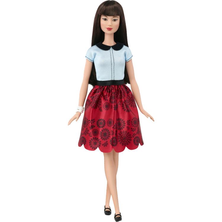 Barbie Fashionistas Doll 19 Ruby Red Floral - Orig