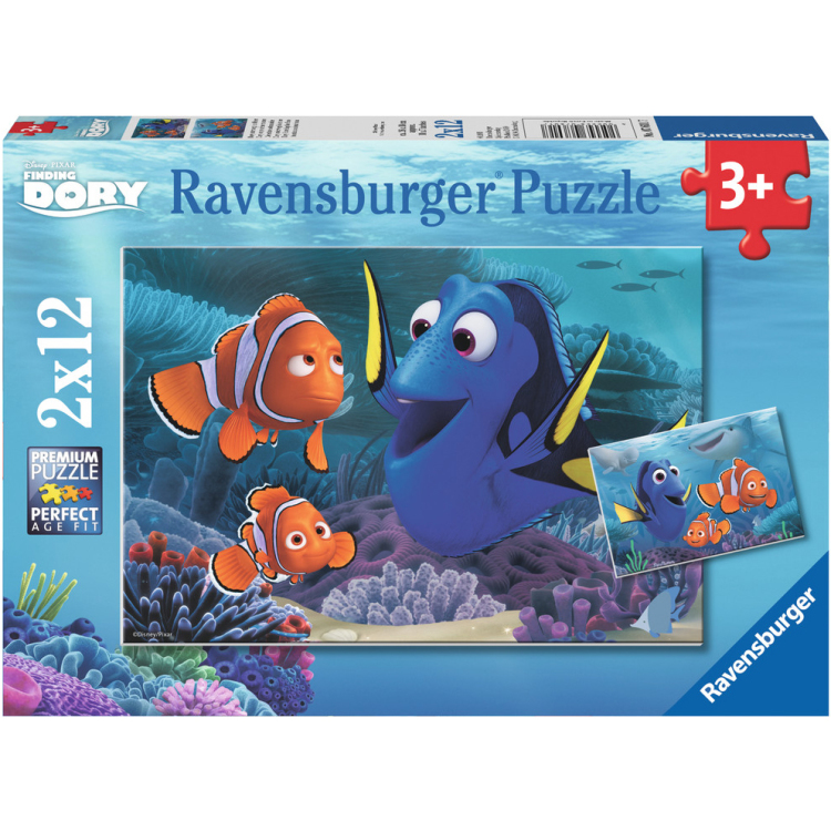 Image of Disney Pixar Finding Dory Puzzels, 2x 12 Stukjes