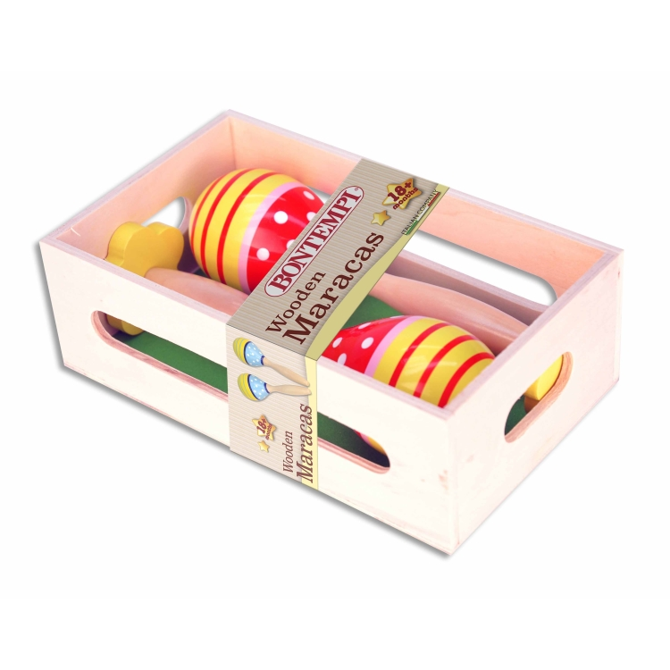 Image of Wooden maracas - Bontempi